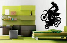 Wall Decal Room Sticker Sport Bicycle Dirt Bike Jump Race Speed Nursery bo2971