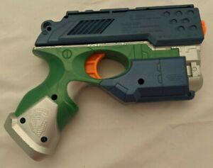 Rare 2004 Hasbro Nerf N-Strike Scout IX-3 Green & Blue Blaster Pistol Tested
