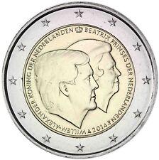 Niederlande 2 Euro 2014 König Willem Alexander und Prinzessin Beatrix bankfrisch