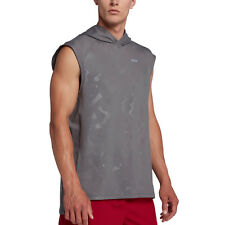 c08b2b39cb3f61 Nike DRY Element Sleeveless Running Hoodie Gunsmoke 928553 Large