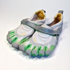 Vibram Five Finger Toes Shoes Size 38 Ivory Green Barefoot Running