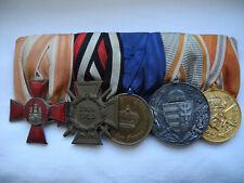 militaria ww1 barrette 5 médailles austro hongroise militaire 14-18 1wk wk1 wwi