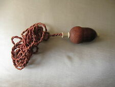 Carved wood ring bell ringer. servant push button carved in a form of an acorn.