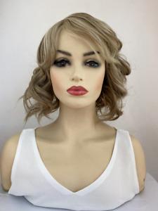 New Ladies Wig Short Blonde Hair Wig Brown Full Fashion Women Wigs