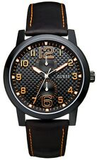 Guess w95111g2 Lights Out Men's Watch Leather Strap Black