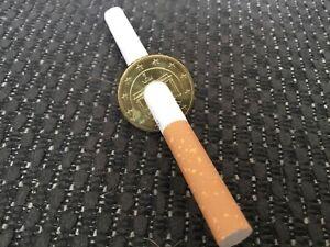 Magic Trick Cigarette pencil Through Euro 50 Cent By Eddie Gibson Pro Version
