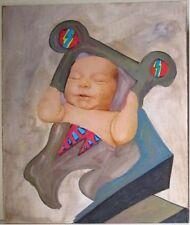 Peintures du XXe siècle et contemporaines compositions mixtes scène de genre