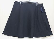 New FALLS CREEK Modest Black Skirt Knee Length Flowy A Line Ladies 1X XL Modesty