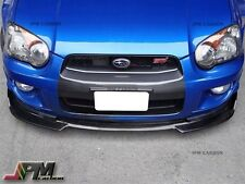 Fit For 04-05 Subaru Impreza WRX STI DP Type 4Dr Carbon Fiber Front Bumper Lip