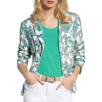 Basler Womens Paisley Office Suit Separate Knit Blazer Jacket Plus BHFO 9441