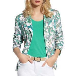 Basler Womens Green Paisley Office Knit Blazer Jacket Plus 20 BHFO 1457