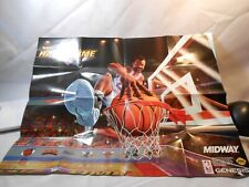 NBA HANG TIME NINTENDO INSERT POSTER