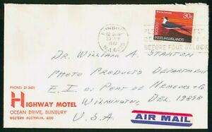 Mayfairstamps Cocos Islands 1973 Highway Motel to Photo Products Du Pont Cover w