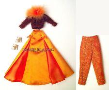 Retro Skirt Sweater Glittery Capri Gold Platform Glam Fashion for Barbie Doll