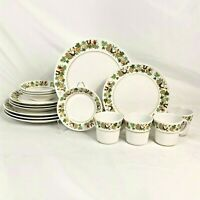 16 PC SET NORITAKE HOMECOMING DINNER SALAD PLATE CUP FRUIT/DESSERT/SAUCE BOWLS