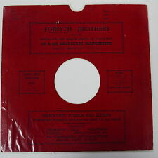 "78rpm 10"" card gramophone record sleeve / cover FORSYTH BROTHERS"