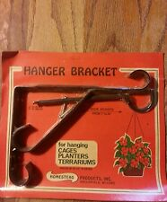 Wrought Iron Plant Lantern Bird Feeder Hook Hanger Wall Bracket. Usa made