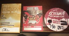 3 Collectible VIP Passes All That Remains Scream It Like You Mean It Goodie Mob