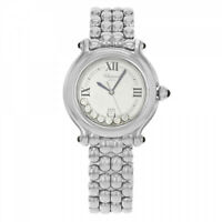 Chopard Happy Sport Steel & 7 Diamond Ladies 32mm Quartz Watch 27/8236-23