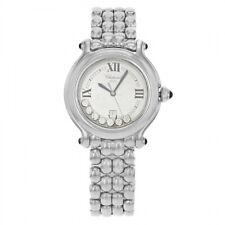 Chopard Happy Sport Steel & 7 Diamond Ladies 32mm Quartz Watch 27/8236-23