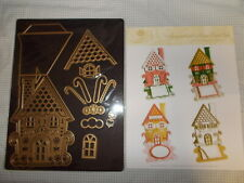 Anna Griffin gingerbread house & haunted house easel dies w/magnet sheet NEW