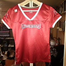 NFL Tampa Bay Buccaneers Women Ladies Medium v-neck studded blouse jersey tshirt
