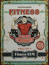 "Blechschild ""Fitness GYM"" Kraftsport Bodybuilding Fitness-Center 33x25cm neu"
