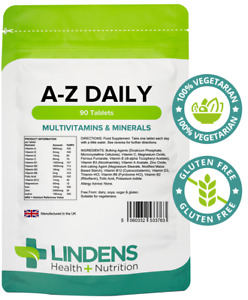 **Lindens MULTIVITAMINS A-Z Daily Tablets 90 Pack