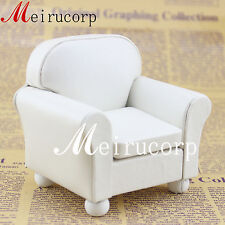 Fine 1/12 scale Miniature Luxurious elegant Grand white Armchair for Dollhouse