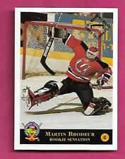 MINOR NEW JERSEY DEVILS MARTIN BRODEUR GOALIE MINT CARD (INV# A9602)