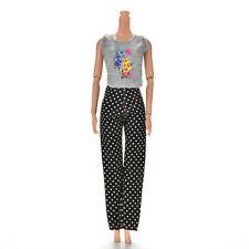 "1 Set Fashion Gray Vest Black Pants for 11"" Barbies Dolls VP"