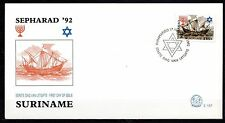 Suriname - 1992 500 years Sepharad -  Mi. 1415 clean FDC