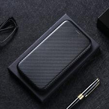 For LG Stylo 6 Velvet K51 Cover Magnetic Carbon Fiber Flip Leather Wallet Case