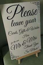 GIFT TABLE POST BOX WISHING WELL Wedding Sign A4