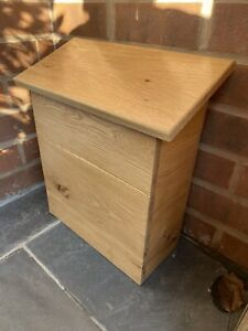 Post Box Parcel Delivery Box Letters Wooden Solid Oak Wall Mounted , Mail