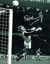 Pat Jennings firmato Photo Autograph Spurs Arsenale Northern Ireland AFTAL COA