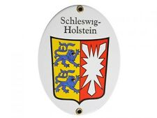 Schleswig Holstein Email Schild Fahne Emaille NEUWARE