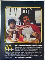 1976 McDonald's fast food restaurant African American man boy vintage ad