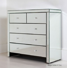 Venetian Mirrored Chest Of Drawers Mirror Cabinet Storage Unit Bedroom Furniture