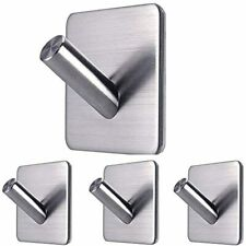Adhesive Hooks Heavy Duty Sticky Wall Waterproof Stainless Steel On For Hanging