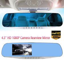 Vehicle Rearview Mirror Camera Recorder Car DVR Dash Cam HD 1080P Dual Lens Rit0