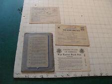 vintage original RATION CARDS, PAPERS, FOLDER, neat, used