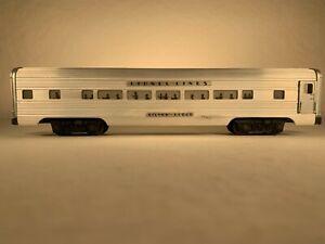 LIONEL 2533, LIONEL LINES SILVER CLOUD ALUMINUM PULLMAN CAR (1952-1960)