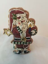 Blue Sky Clayworks ~ Heather Goldminc Santa Claus Tea Light Holder. B3