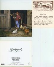 VINTAGE FARM COW PIG FOLK ART BARBECUE RECIPE SAUCE PRINT 1 CHICKEN COW ART CARD
