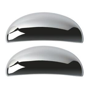 PAIR OF CHROME DOOR HANDLE COVERS FOR PEUGEOT 206 RIM5265 - ABS PLASTIC