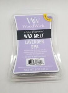 Yankee Candle -  WoodWick LAVENDER SPA SCENTED WAX MELT 3oz NEW in Package