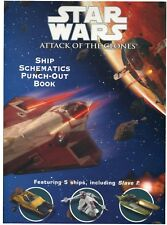 Star Wars Episode 2 Attack of the Clones Ship Schematics Punch-Out Book 5 Ships