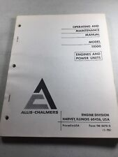 Allis Chalmers Model 11000 Engines Operating And Maintenance Manual