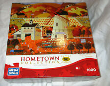 Mega Puzzles Hometown Collection Art of Heronim Windmill 1000 Pc Jigsaw Puzzle